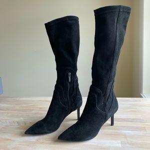 Aquatalia Mariel Waterproof Suede Knee Boot Black